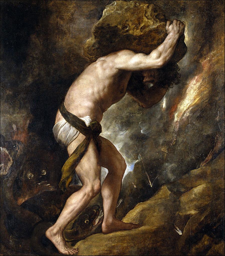 Die Leiden des Sisyphos - illustriert vom italienischen Maler Tizian